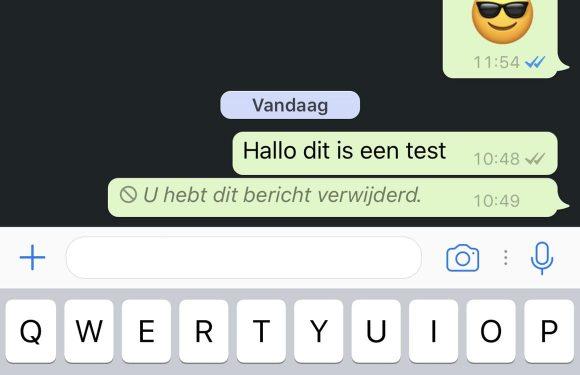 WhatsApp bericht verwijderen