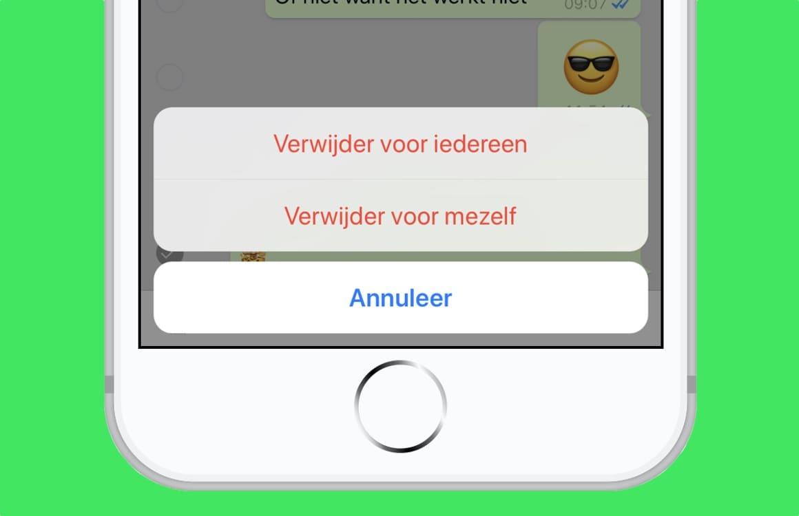Zo verwijder je een WhatsApp-bericht voor jou en de ontvanger