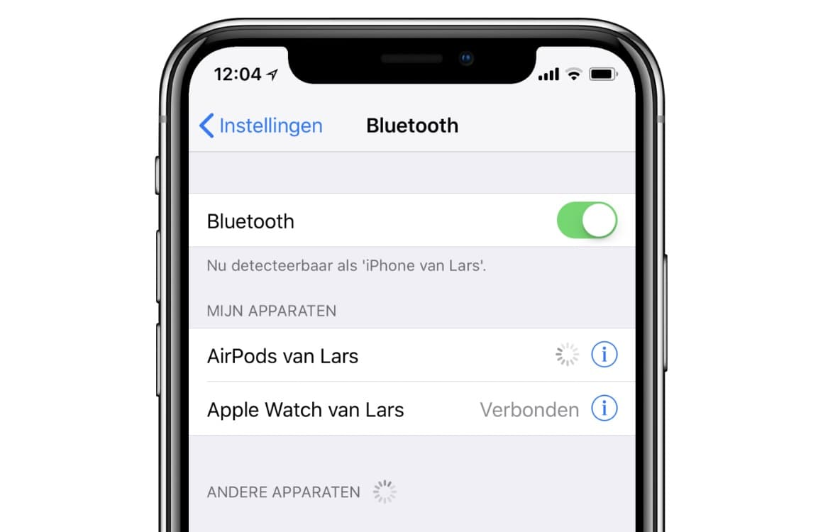 Bluetooth koppelen iPhone