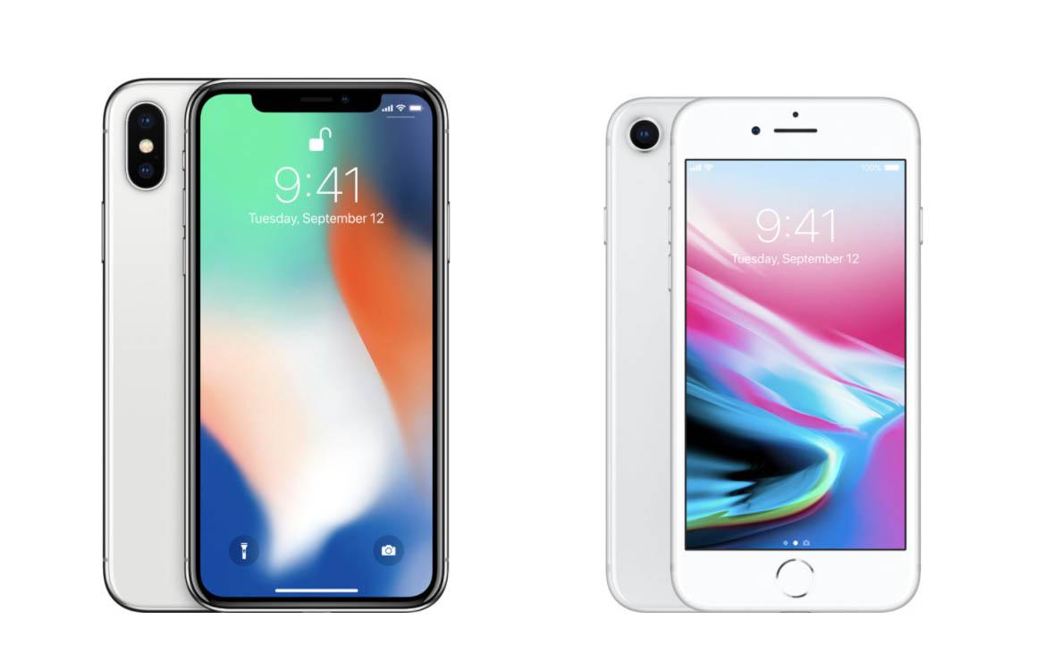iPhone 8 vs iPhone X: dit zijn de verschillen en overeenkomsten