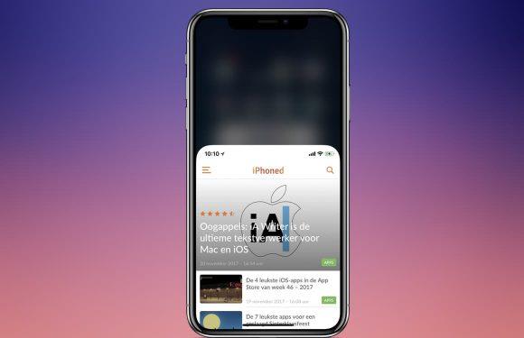 Zo benut je iPhone X Reachability om het toestel beter te bedienen