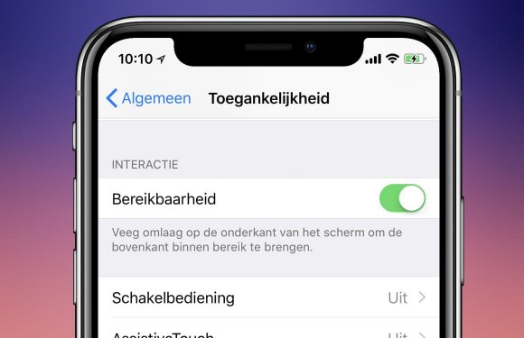 iPhone X reachability