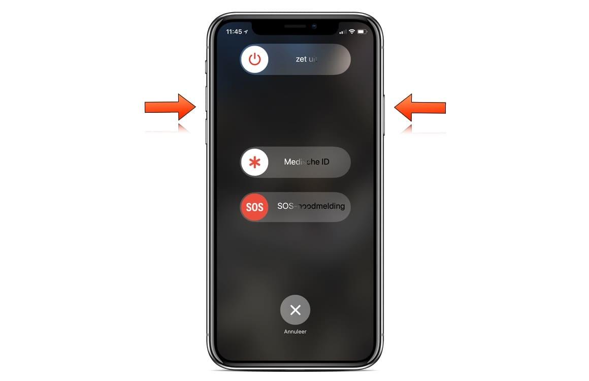 iPhone X uitzetten