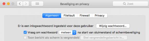 Mac-scherm vergrendelen