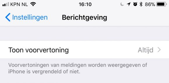 iPhone notificaties verbergen