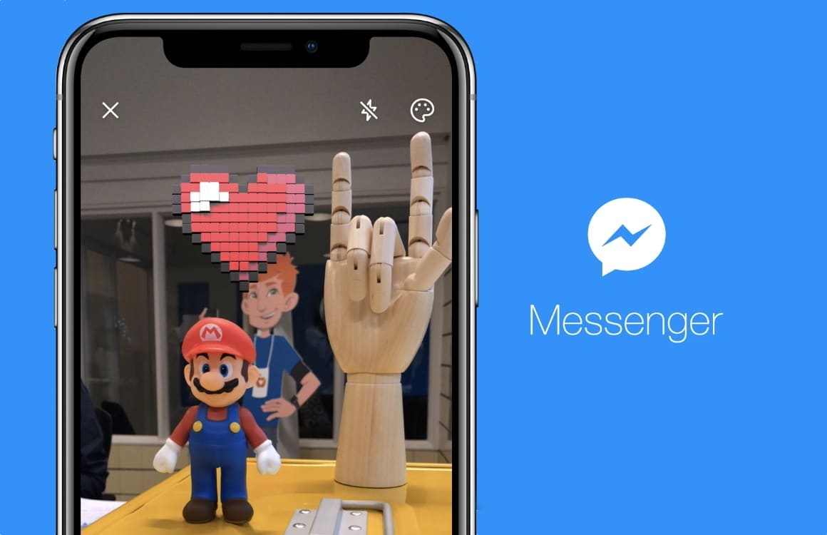 Zo werken de eerste AR-filters van Facebook Messenger