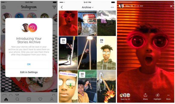 instagram verhalen vastzetten