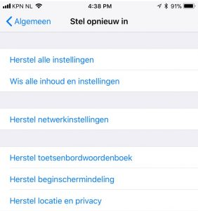 iPhone homescreen opruimen