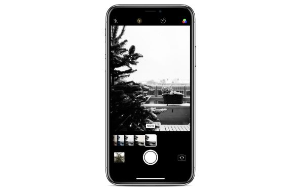 iPhone sneeuwfoto's
