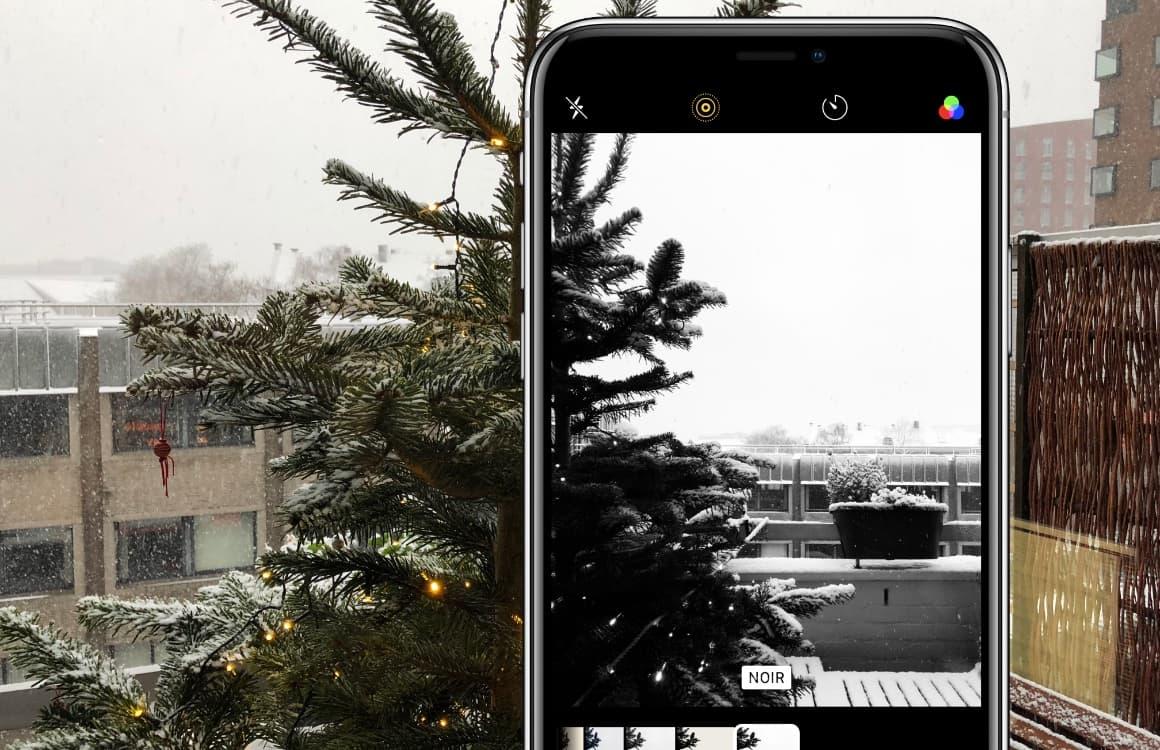 iPhone sneeuwfoto's maken