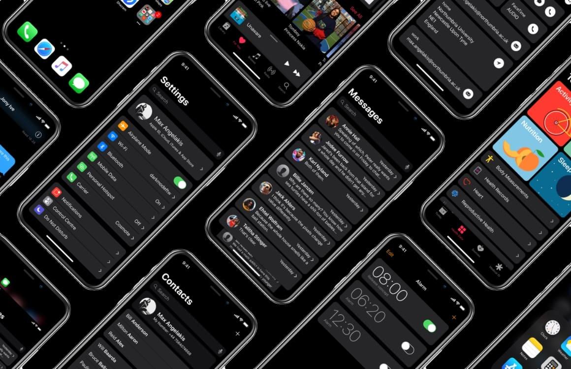 Zo mooi kan een iOS Dark Mode er uitzien op de iPhone X