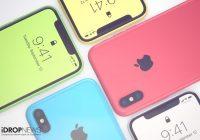 iPhone Xc-concept toont kleurrijke budgetvariant van de iPhone X