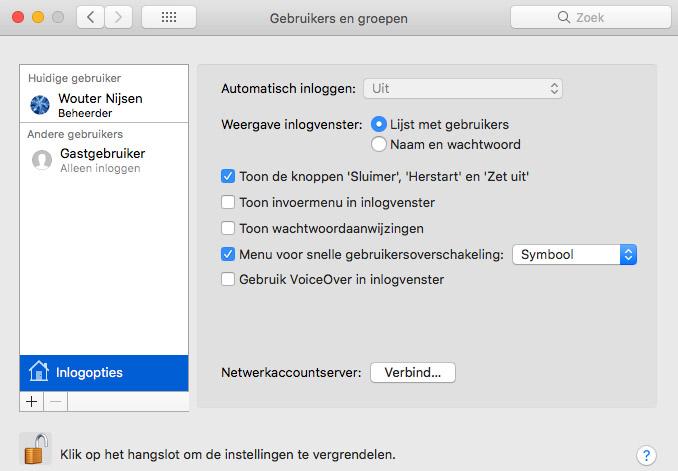 mac gebruikersoverschakeling