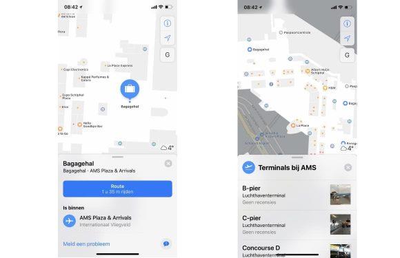 Schiphol Apple Maps
