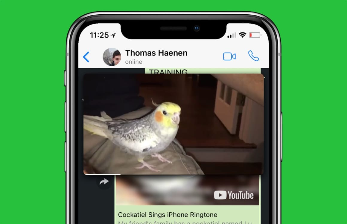 WhatsApp lanceert picture-in-picture videospeler, gaat spam actief weren