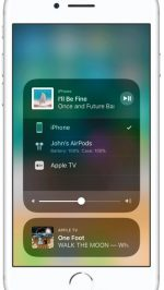 AirPlay iOS 11 bedieningspaneel
