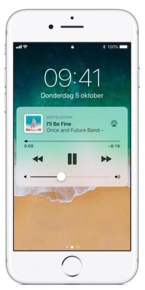 AirPlay iOS 11 bedieningspaneel