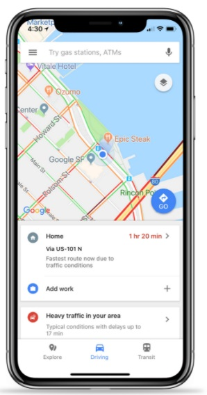 Google Maps iOS-update