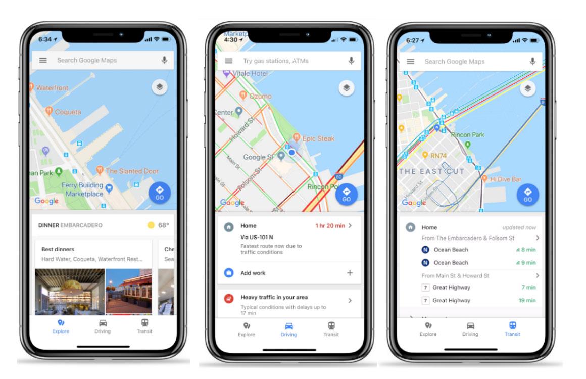 Zo helpt Google Maps je nu beter in de auto, het ov of in een restaurant