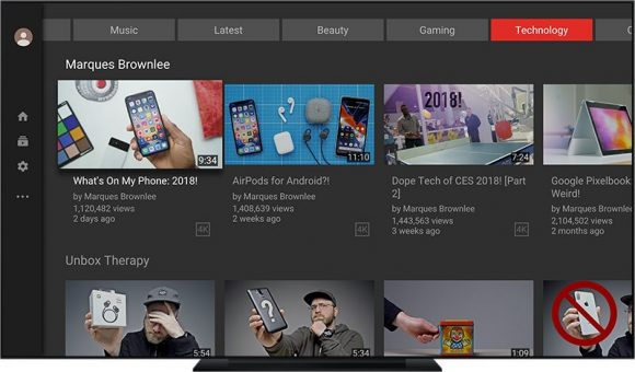 youtube app apple tv ontwerp