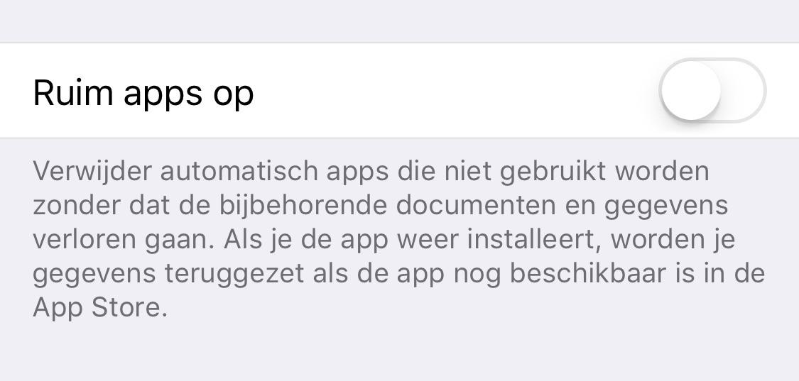 apps worden verwijderd