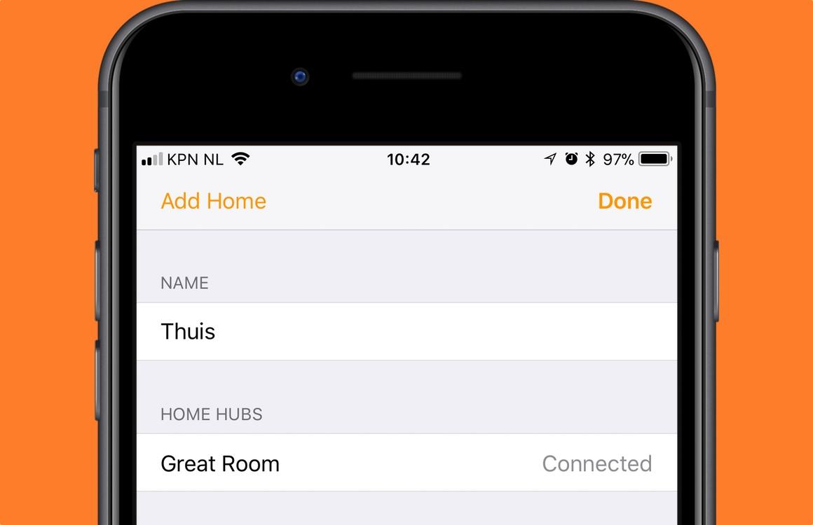 HomeKit-hub instellen