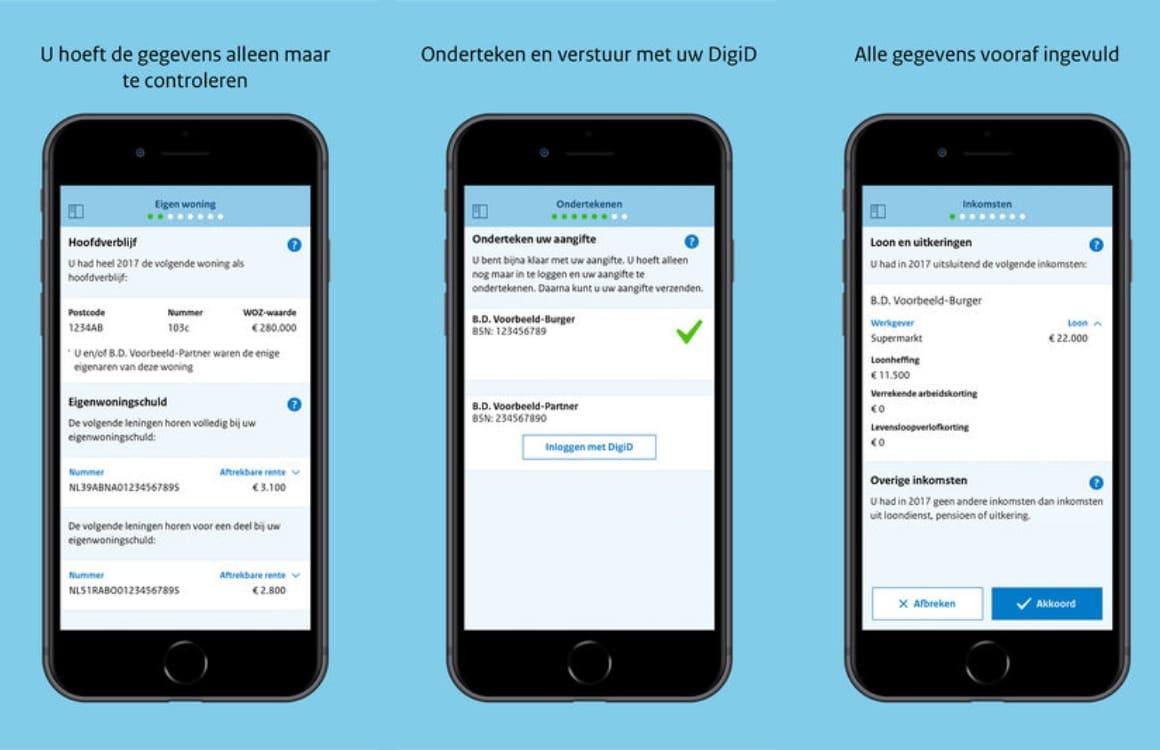 Belastingaangifte 2017-app