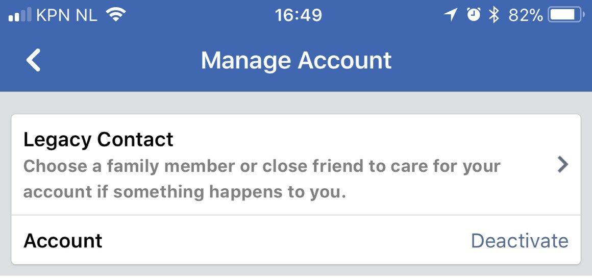 Facebook-account verwijderen