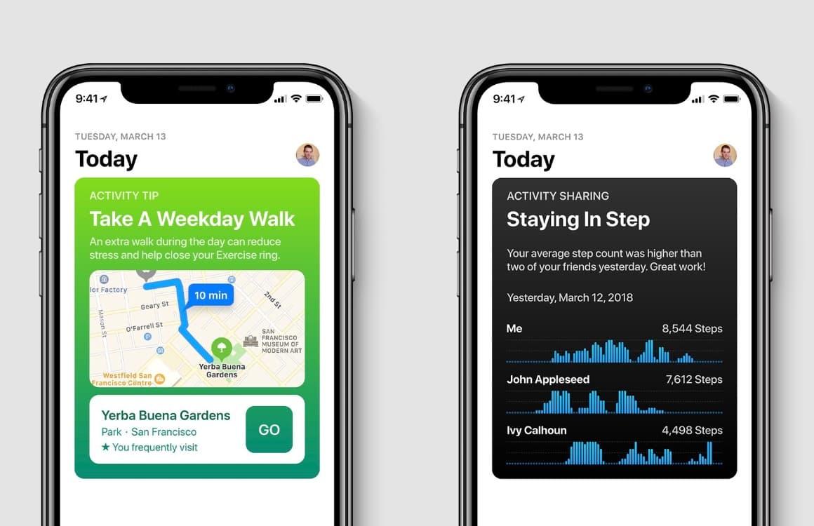 iOS 12 Gezondheid-concept