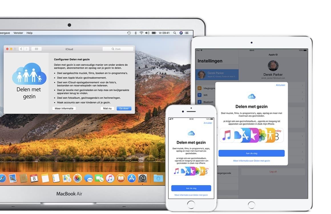 Apps delen met gezin