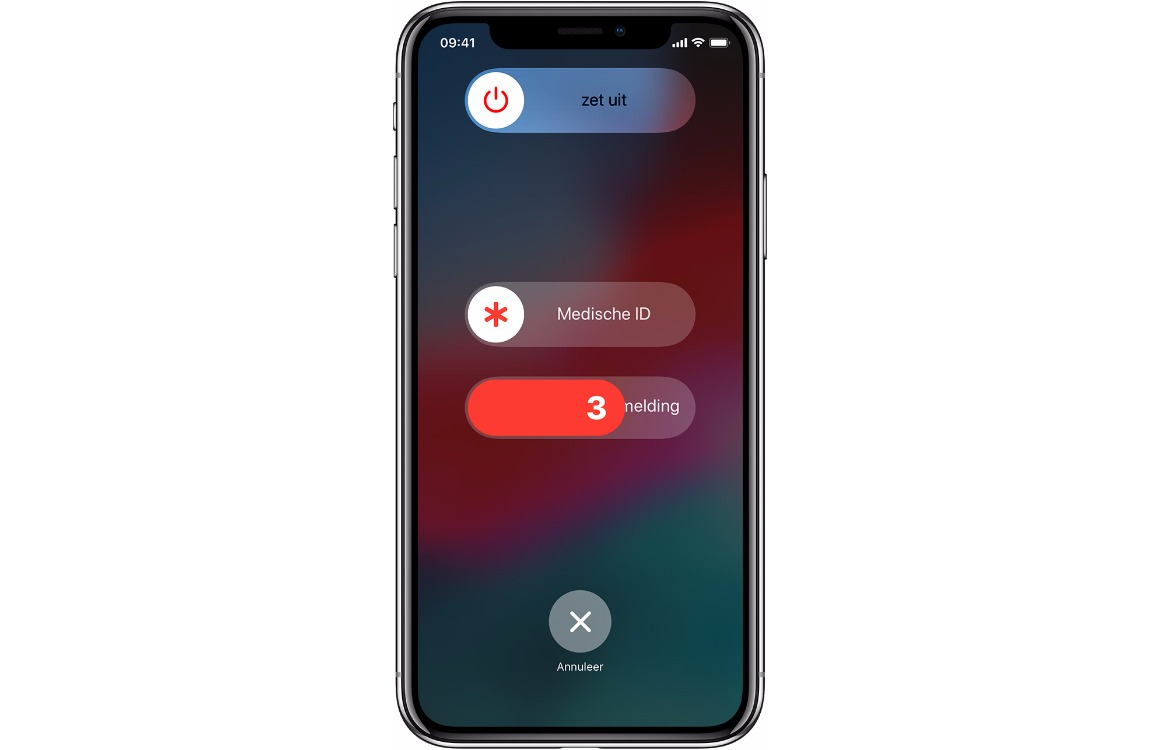iPhone noodmelding sos iphone x