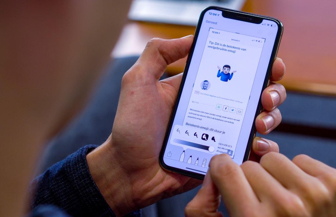 Tip: Een iPhone-screenshot maken en bewerken, zo doe je dat