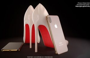 iPhone X goud concept