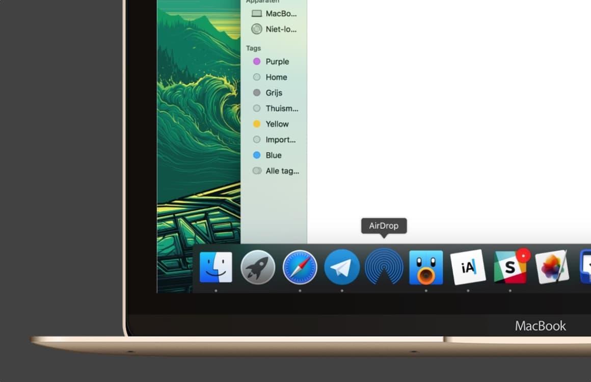 Tip: Nog sneller bestanden delen met AirDrop in je Mac-dock
