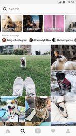Instagram videochat ontdek-tabblad