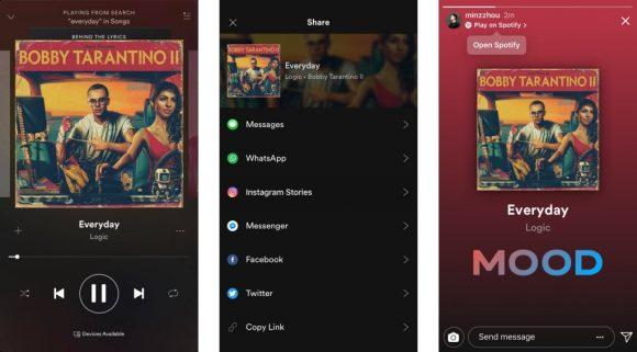 Instagram videochat spotify