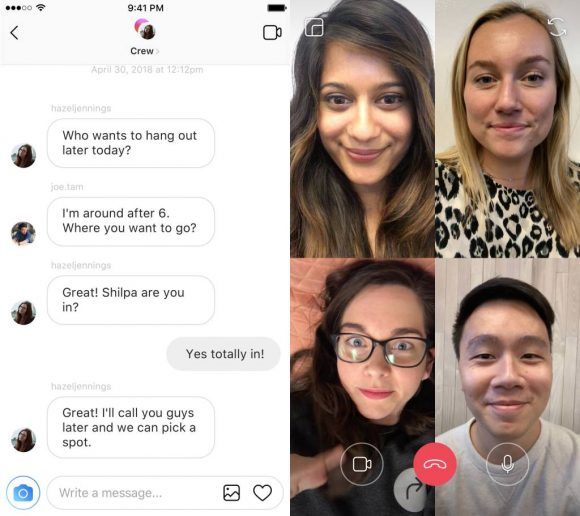 Instagram videochat uitg