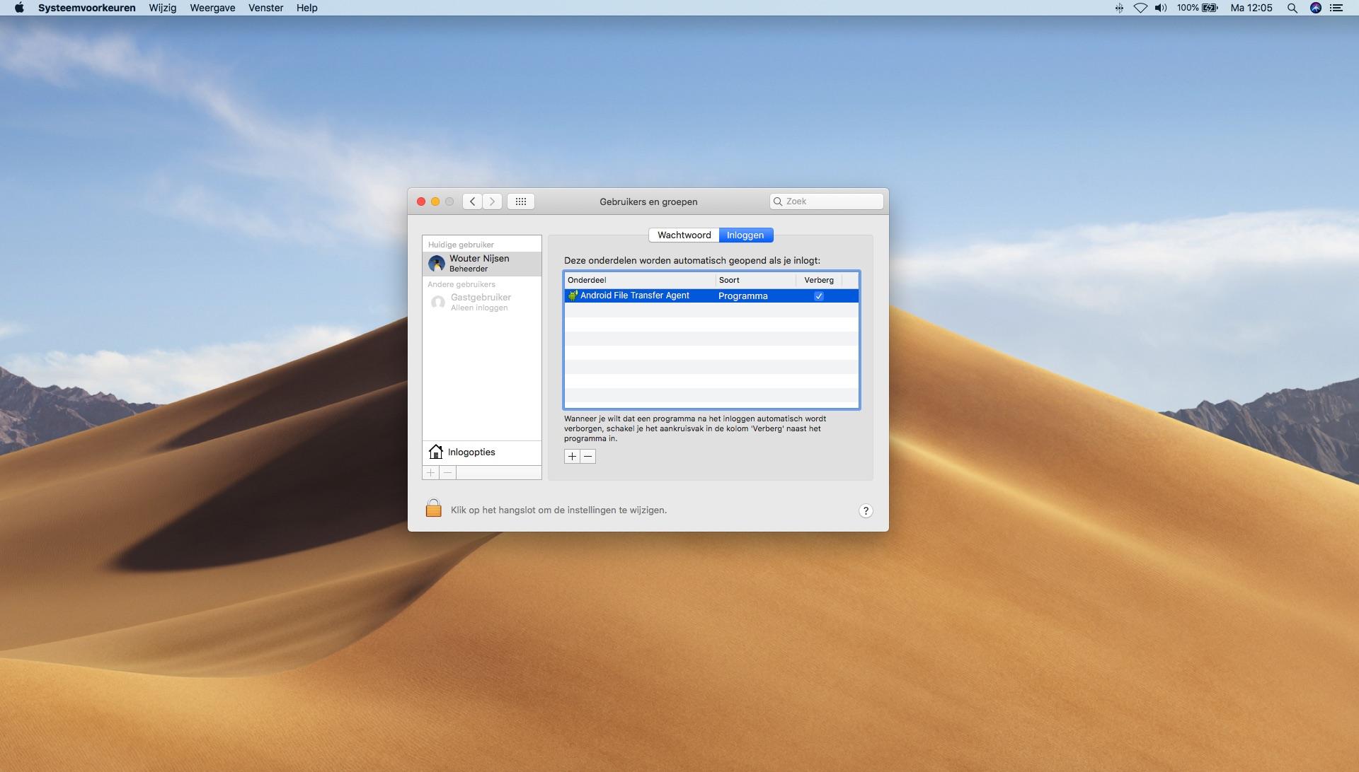 mac opstartprogramma