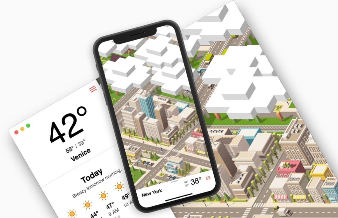 Tinyclouds: deze weer-app brengt de weersverwachting tot leven