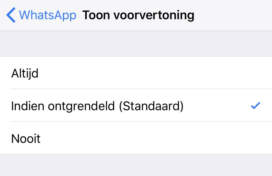 WhatsApp geen namen
