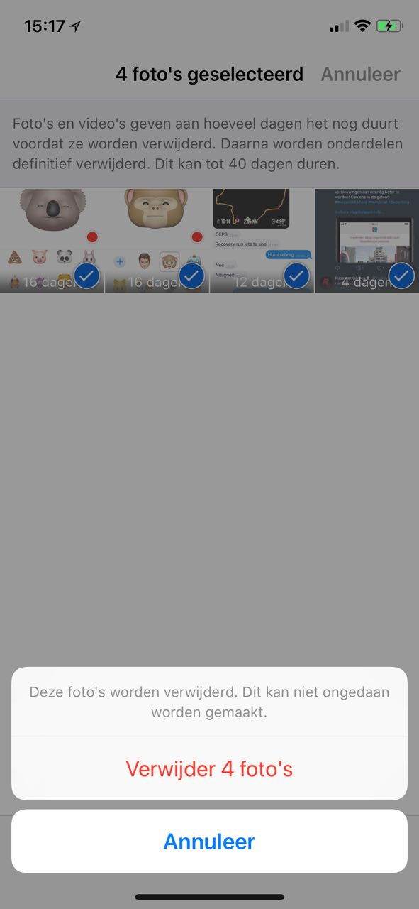 iOS 12 foto's verwijderen: zo gooi je ze definitief weg