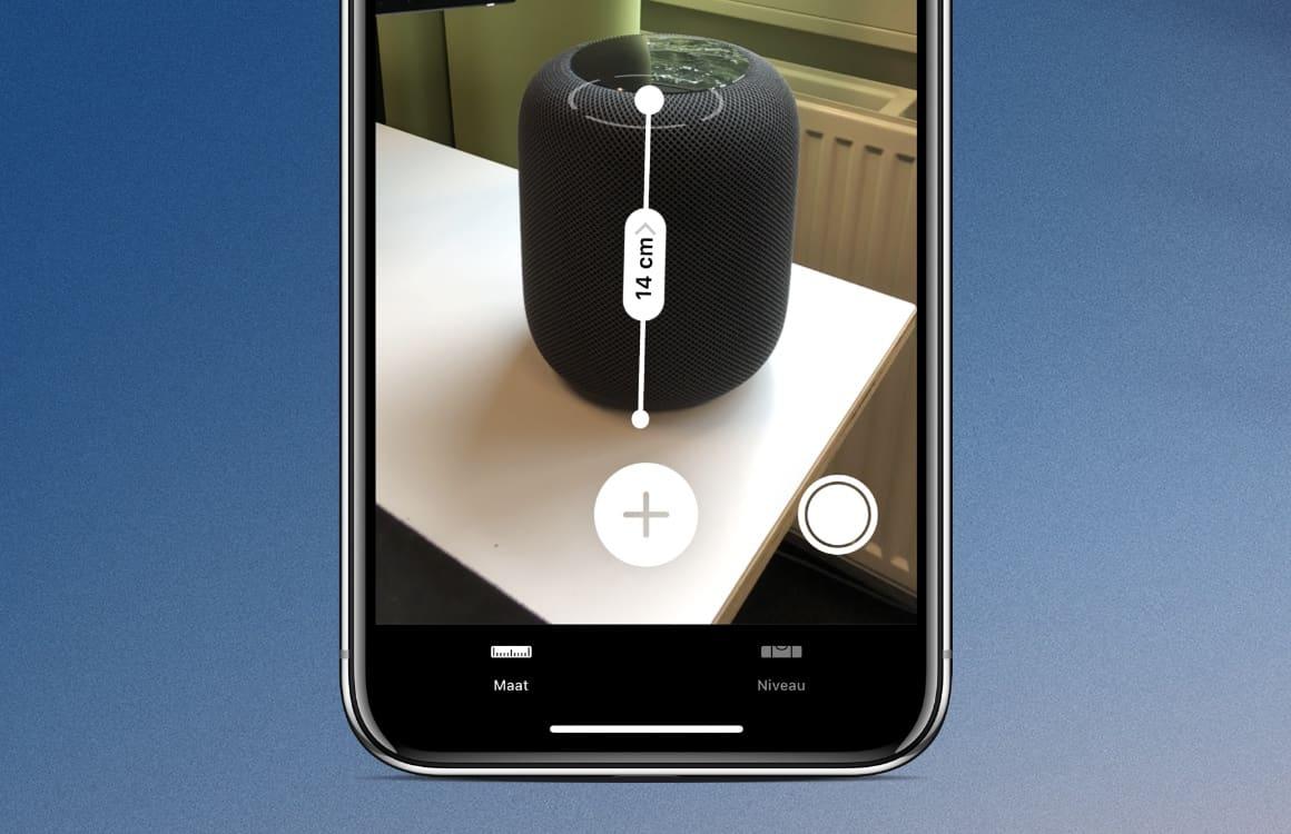 Zo werkt de iOS 12 Measure-app: een meetlint op je iPhone