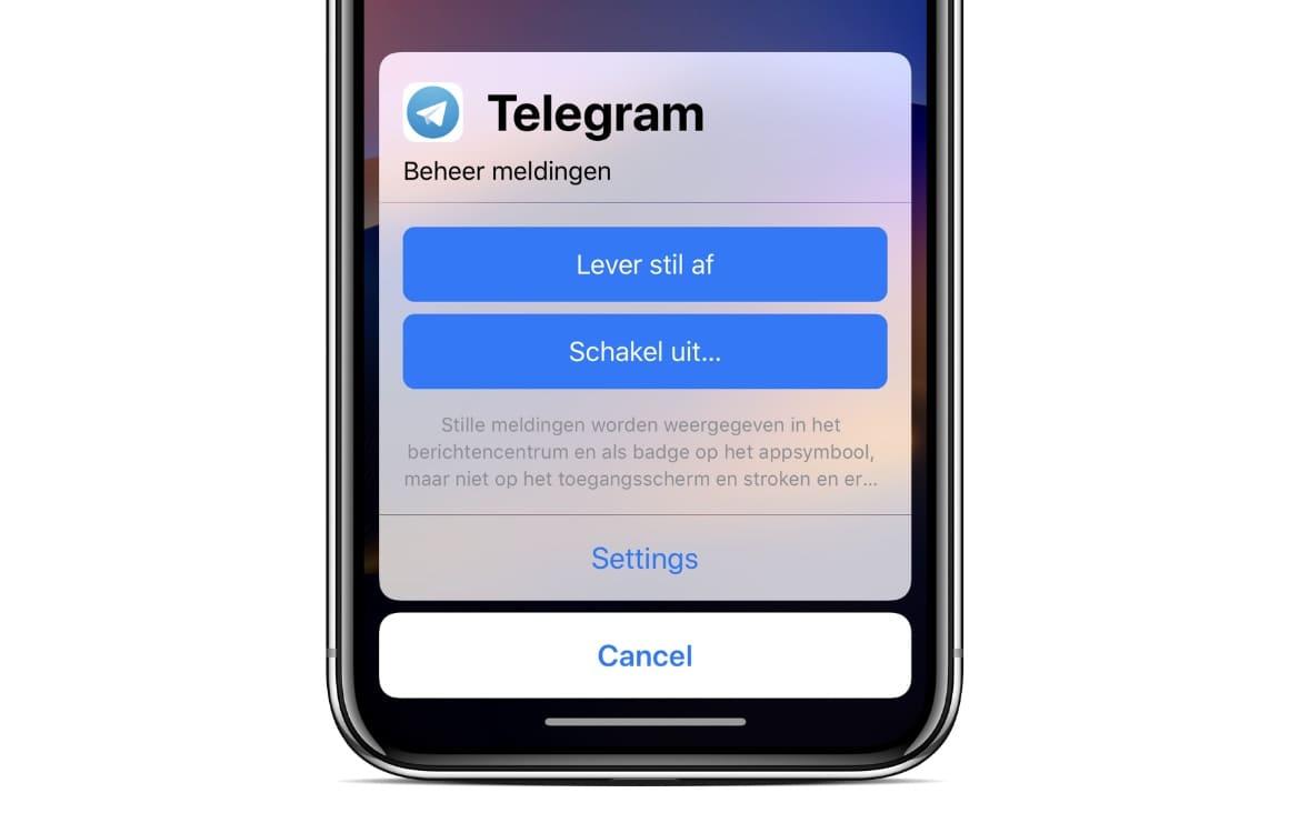 iOS 12 notificaties