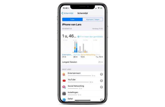 iOS 12-gebruikers klagen over hoog accuverbruik Schermtijd-functie