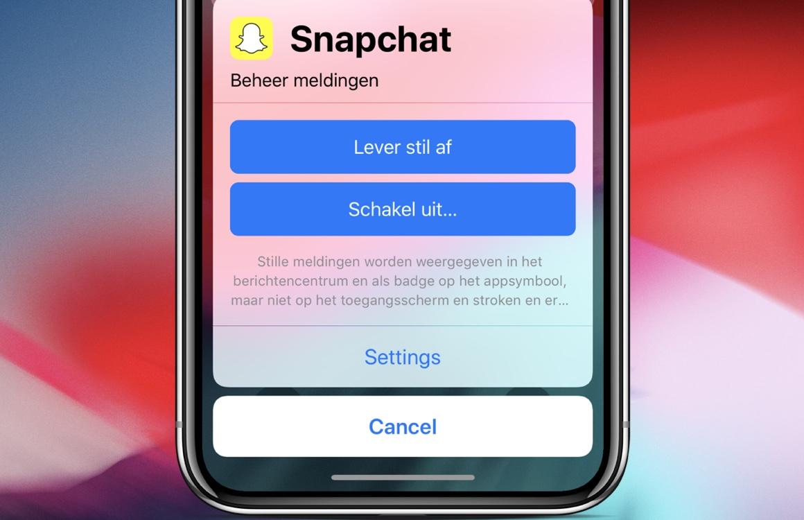 Tip: zo gebruik je de 'stille meldingen' van iOS 12