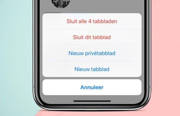 Tip: Zo sluit je in één keer alle Safari-tabbladen op je iPhone of iPad