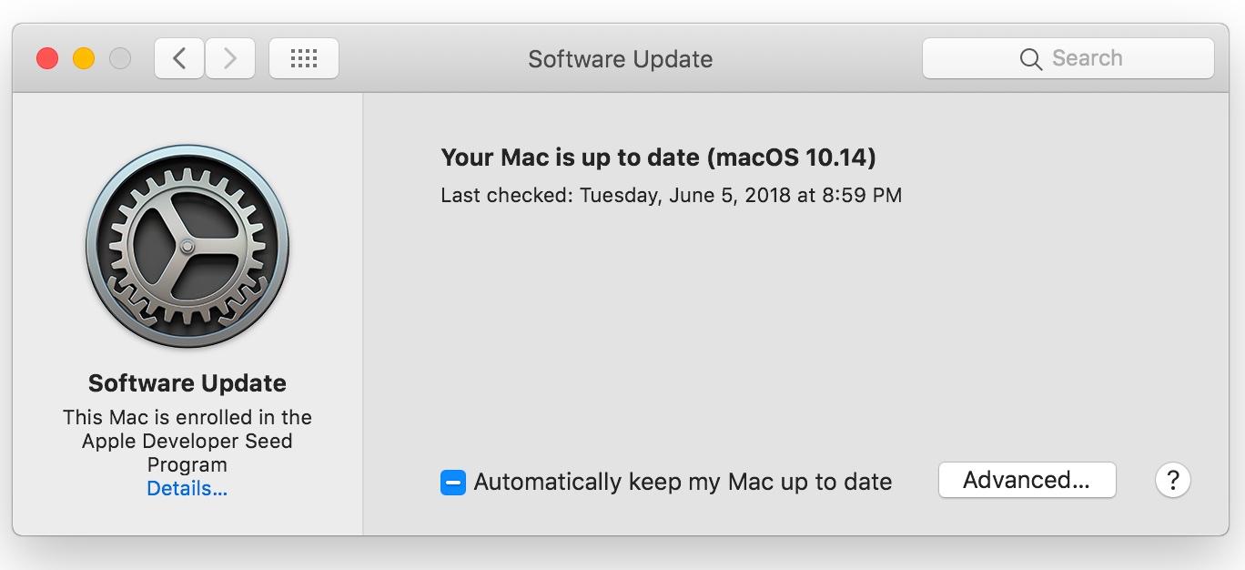macOS mojave functies