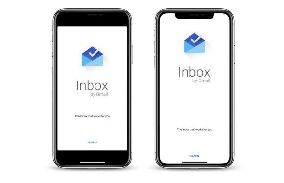 Eindelijk: Google Inbox ondersteunt de notch van de iPhone X
