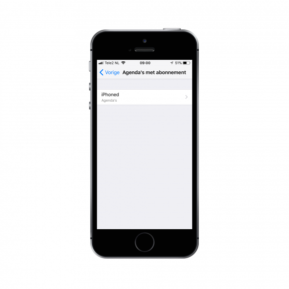 agenda verwijderen iphone