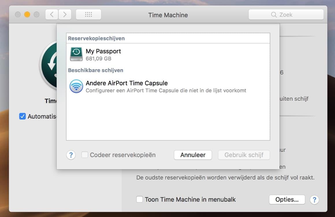 MacBook reservekopie